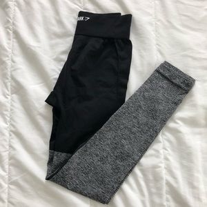 NWT Gymshark Two tone seamless leggings